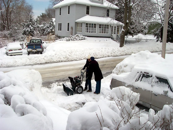 Mary and nabil snowblower