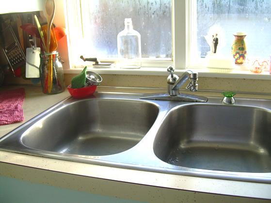 Clean sink.