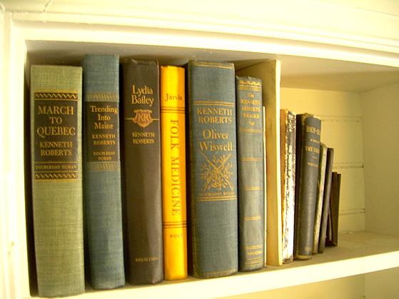 Books original to the house