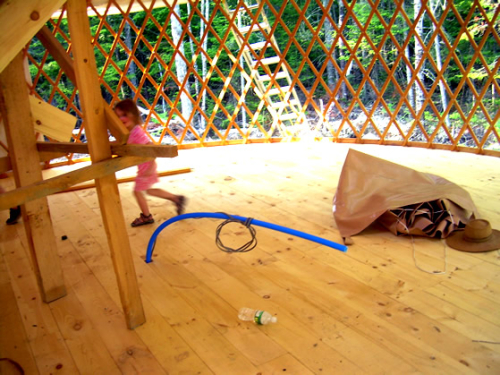 June 9 yurt inside